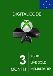 EU Xbox Live: 3 месяцев, золотой статус